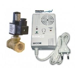 Imagine Primatech Secor 2000 detector de gaz si monoxid cu electrovana 3/4