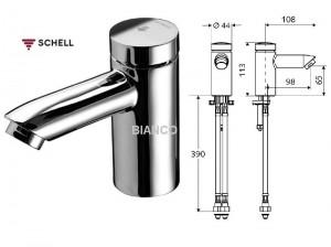 Imagine Baterie lavoar cu temporizator SCHELL PETIT SC- pentru apa mixata