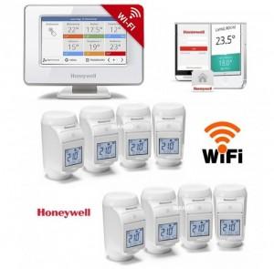 Imagine Termostat Honeywell EvoHOME pentru comanda centralei si 8 calorifere