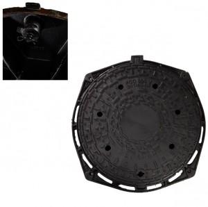 Imagine Rama si capac ventilat fonta D 400 cu inchizator 805
