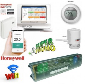 Imagine PACHET WiFi Honeywell EvoHOME cu 4 zone si 8 circuite