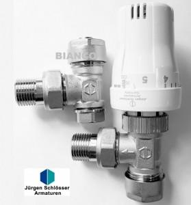 Imagine Robinet cu cap termostatic si robinet retur 1/2x16 mm