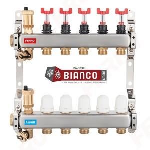 Imagine Distribuitor-colector din inox cu debitmetre si ventile termostatice cu 9 circuite
