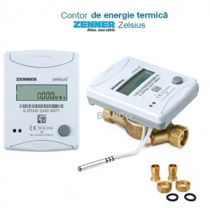 Imagine Contor de energie termica Zenner Zelsius C5 ISF - 1/2 DN15