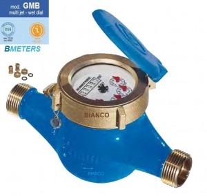 Imagine Contor apa rece BMeters GMB cu cadran umed cl.B DN25 - 1