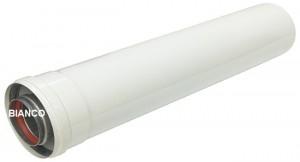 Imagine Prelungitor coaxial din aluminiu pentru centrale termice - 60/100x500 mm