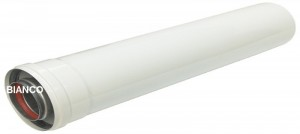 Imagine Prelungitor coaxial universal pentru centrale termice - 1m