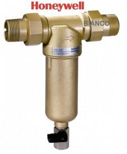 Imagine Filtru lavabil 1/2 cu sita din inox si purjare Honeywell FF06-AAM