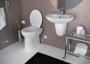 Imagine SaniCOMPACT C43 Dual Flush - vas WC cu sistem de tocare-pompare integrat