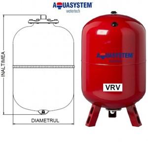 Imagine Vas de expansiune VRV 80 litri pentru incalzire