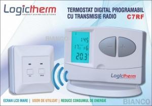 Imagine Termostat de ambient programabil fara fir Logictherm C7 RF