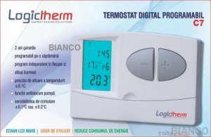 Imagine Termostat digital programabil Logictherm C7 cu fir