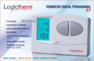 Imagine Termostat digital programabil Logictherm C7 cu fir