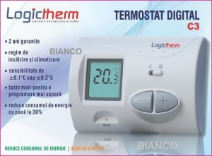 Imagine Termostat de ambient Logictherm C3 cu fir