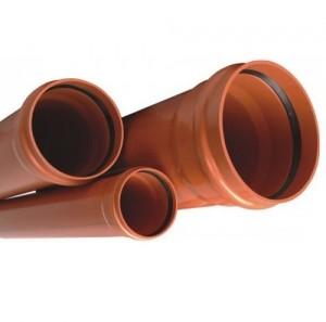 Imagine Teava PVC cu mufa si garnitura 125x1000