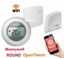 Foto OpenTherm Honeywell ROUND Connected- termostat de ambient WiFi