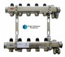 Foto Set distribuitor din inox cu 5 circuite pentru calorifere