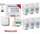 Foto Honeywell EvoHOME pentru comanda centralei si 6 calorifere