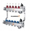 Foto Distribuitor din inox cu 3 circuite debitmetre si ventile termostatice Purmo Premium