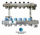 Foto Distribuitor COMBI din inox cu 9 circuite pentru calorifere
