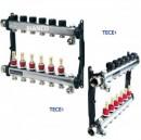 Foto Distribuitor din inox cu 7 circuite debitmetre si ventile termostatice TECE SLQ