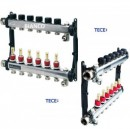 Foto Distribuitor din inox cu 6 circuite debitmetre si ventile termostatice TECE SLQ