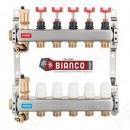 Foto Distribuitor-colector din inox cu debitmetre si ventile termostatice cu 3 circuite