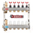 Foto Distribuitor-colector din inox cu debitmetre si ventile termostatice cu 12 circuite