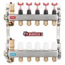 Foto Distribuitor din inox cu debitmetre, ventile termostatice si racorduri 16 mm cu 9 circuite