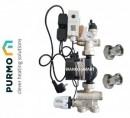 Foto Grupul de amestec și pompare Purmo echipat cu pompa eficientă energetic Grundfos ECO3