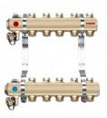 Foto Distribuitor - colector din alama cu 5 circuite pentru calorifere