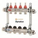 Foto Distribuitor-colector din inox cu debitmetre si ventile termostatice cu 5 circuite Heimeier DYNALUX