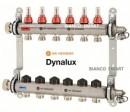 Foto Distribuitor-colector din inox cu debitmetre si ventile termostatice cu 9 circuite Heimeier DYNALUX